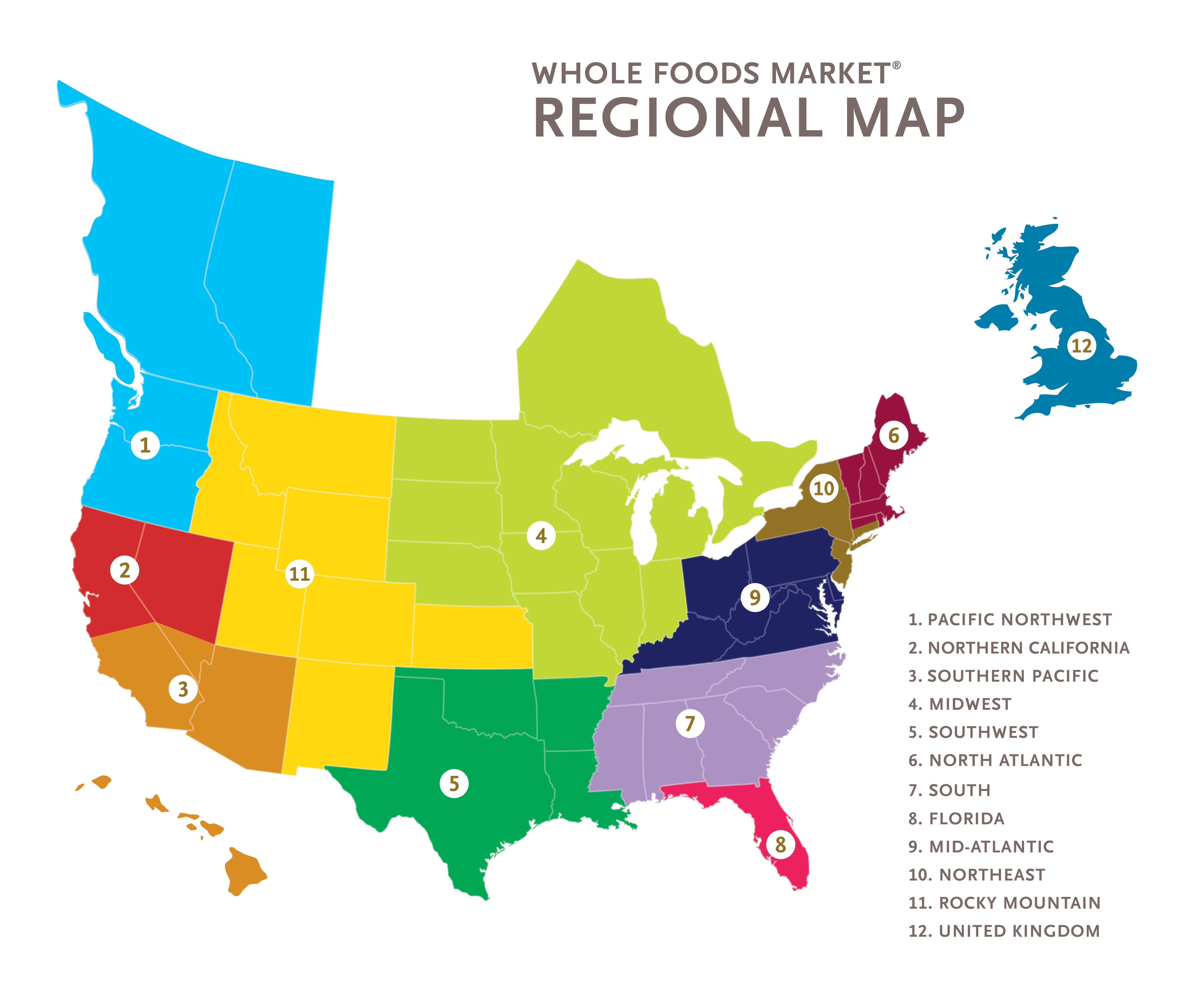Whole Foods Regional Map Ebix RCS